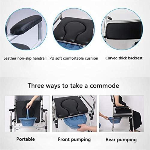 Bbhhyy Toilettenstuhl Ältere WC-Sitz Mit Rädern Startseite Ältere WC Mobiltoilette Schwangere Frauen Tragbarer