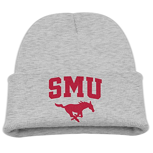 Babala Southern Methodist University SMU Children Knitted Beanie Cap Hat Winter Skullcap Top Hat Ash (Ralph Lauren Baby Boy Beanie)