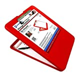 Saunders SlimMate Plastic Storage Clipboard, 560, Letter Size 8.5-Inch X 12-Inch, Red