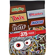 MARS Chocolate Favorites Halloween Candy Bars Variety Mix Bag (TWIX, MILKY WAY, SNICKERS, 3 MUSKETEERS, M&M'S Brands), 112.82 oz 375 Pieces