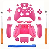 YICHUMY Replacement Matte Pink Controller Housing Shell Full Set Faceplates Buttons for Xbox One Controller with the 3.5 mm Jack Xbox One Housing Shell Xbox One Replacement Button 3.5 Port ,Pink For Sale