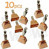 10pcs Fish WOW! Fishing Copper Bell Alert with Eagle Clamp...