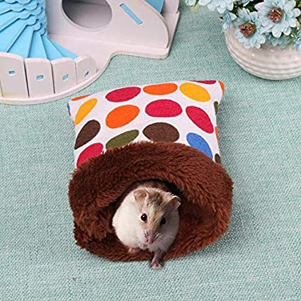 Hamster Sleeping Bag Warm Plush Hamster Nest Bed House Soft