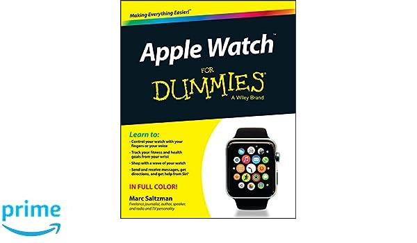 Apple Watch For Dummies: Amazon.es: Marc Saltzman: Libros en idiomas extranjeros