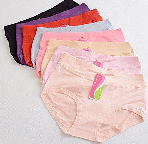 Da.Wa Slips Höschen String Dessous Baumwolle Unterwäsche fur Frauen (Satz von 1,Rote,XL)