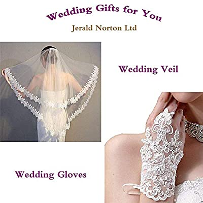 Women's Lace Wedding Dresses for Bride with 3/4 Sleeves Plus Size Bridal Gown at Women's Clothing store