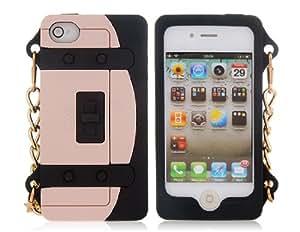 Conseguir Monedero en forma de silicona protectora para el iPhone 4 y 4S (Negro)