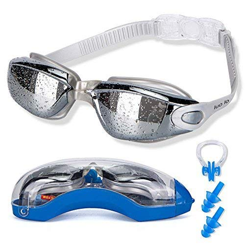 7c5e60e1cbe2 luolo Swimming Goggles with Earplug and Nose Clip