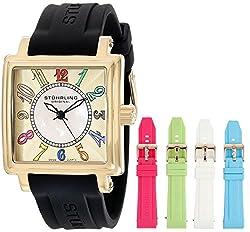 Stuhrling Original Women's 149L3.123631 Vogue Ozzie Dream Gold-Tone Watch with Interchangeable Straps