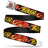 Buckle-Down Seatbelt Belt - THE FLASH Super Charged Running Pose - 1.5'...