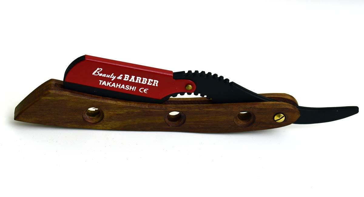 Japanese stainless Straight Razor, Professional Barber Classic Straight Edge Razor - TAKAHASHI Straight Razor for Barber includes 20 free blades