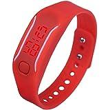 Digital Sport Watch Hosamtel Mens Womens Silicone LED Date Bracelet Wrist Watch
