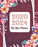2020-2024 Five Year Planner: Red Floral