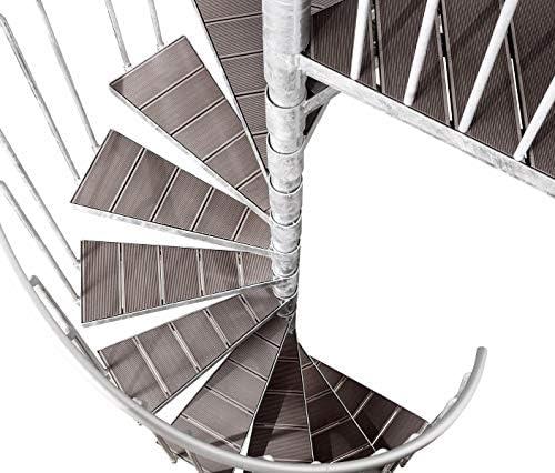 Intercon® K2 Wood Edition Escalera de acero WPC, diámetro 120/140/160/180/200 cm, en marrón o antracita: Amazon.es: Bricolaje y herramientas