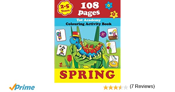 Spring: Coloring and Activity Book with Puzzles, Brain Games ...