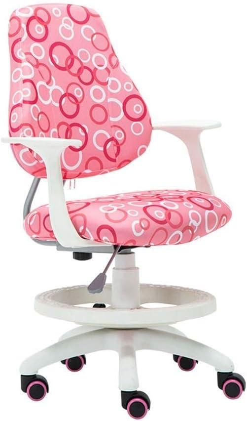 LEOO Silla de Oficina de Malla ergonómica articulada para niños de Color Rosa