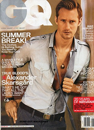 GQ Magazine (June, 2011) True Blood's Alexander Skarsgard Cover