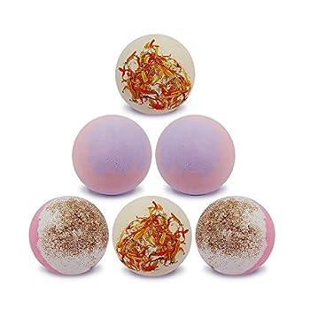 Appleaves Lush Bath Bombs Gift Set, Handmade Bath Bomb kit, Organic Bath Bombs, Bathbombs Gift For Women, Girls, 6 pack