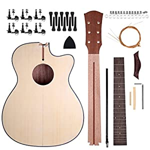 Amazon shsyue diy acoustic guitar build your own kit for shsyue diy acoustic guitar build your own kit for starter beginner music lovers kids gift 40 6 string solutioingenieria Image collections