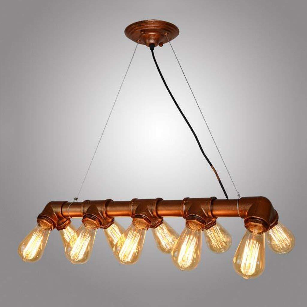 no incluye bombilla YLCJ Industrial Steampunk Metal Retro//Vintage cobre colgante tubo 10 luces Edison cocina techo ara/ña iluminaci/ón r/ústica