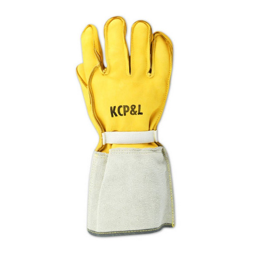 Magid Glove & Safety 60494E-KCP-9 Magid Power Master 60494EKCP Grain Deer Linesman Gloves, 8, Yellow, 9