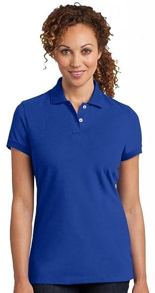 District Made Damen Dehnbar Pique Polo Shirt Gr. X-Small, Königsblau