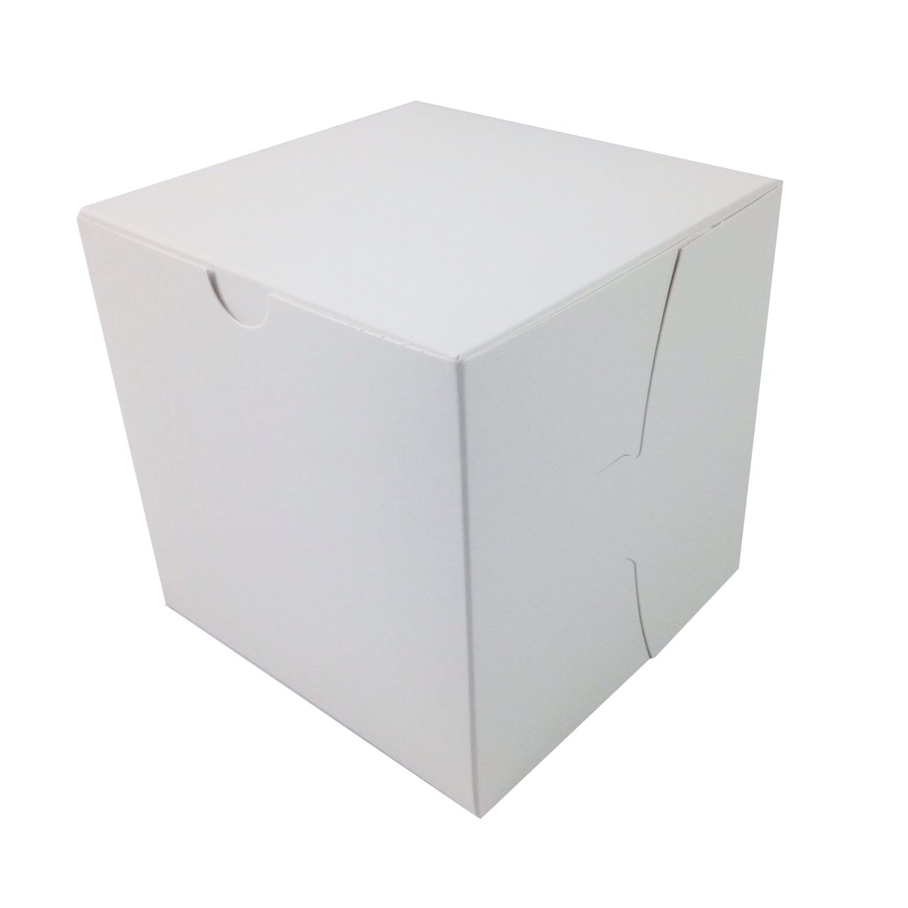 Black Cat Avenue 6'' x 6'' x 6'' White Bakery Cake Boxes Non-Window Paperboard Gift Boxes, 5 Count