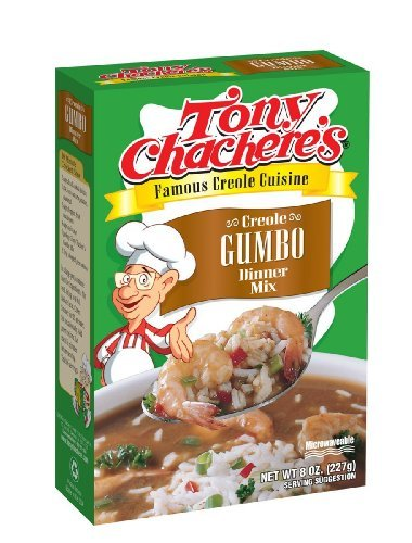 Tony Chachere's Creole Gumbo Dinner Mix, 8-Ounce Units (Pack of 4)