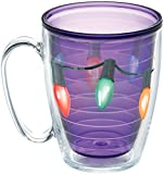 Tervis 1272117 Christmas Mug with Lid, The lights are strung by the tumbler with care in hopes that long-lasting hot drinks will bring cheer. They will when theyre served in this festive cup. , Red
