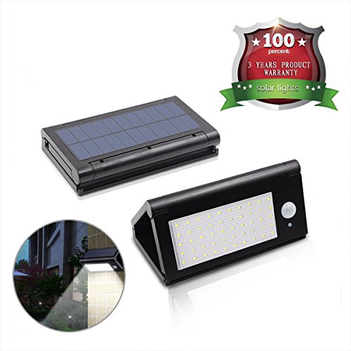 Outdoor 50 LED Foldable Solar Lights 800 Lumen Motion Sensor Light with Waterproof and Wireless Outdoor Security Garden Yard Porch Patio Path Wall Fence Light by Secoo