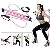 Pilates Bar Kit with Resistance Band, Yoga