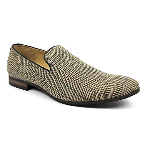 Plaid Checkered Loafers Modern Dress product image