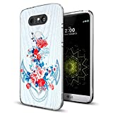 phone cases for a lg slide phone - LG G5 Case Anchor,Gifun [Anti-Slide] and [Drop Protection] Clear Soft TPU Premium Flexible Protective Case For LG G5 - Vintage Blue Rose Anchor Case 2017