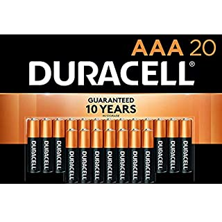 Duracell - CopperTop AAA Alkaline Batteries - long lasting, all-purpose Double A battery for household and business - 20 Count