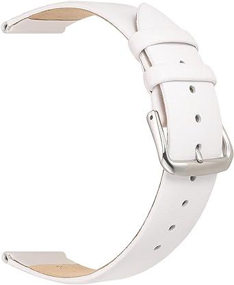 Bracelet montre modèle classique blanc,disponible en 16mm,18mm et 20mm