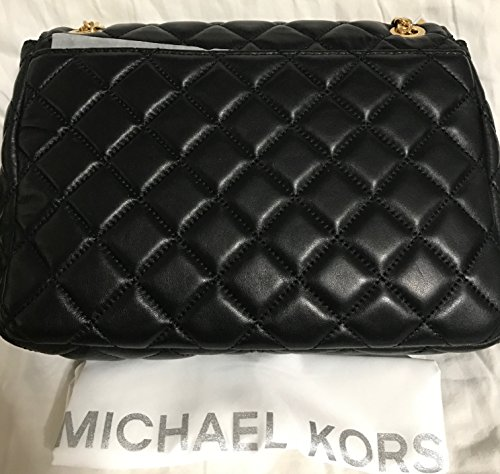 a69f10c8f8be19 Michael Kors Sloan Extra Large Chain Shoulder Bag Quilted Leather  30T6GSLL4L Black: Amazon.ca: Shoes & Handbags
