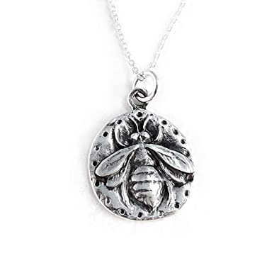 cfea250f39b96 Sterling Silver Queen Bee Pendant Necklace