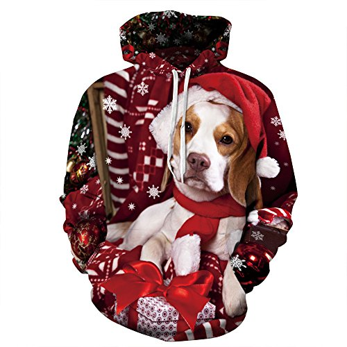 iFANS Unisex Funny Dog Cat Red Ugly Christmas Sweater Jumper - Day Prices Delivery Same Usps