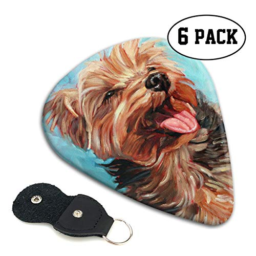 Colby Keats Guitar Picks Plectrums Yorkshire Terrier Dog Classic Electric Celluloid Acoustic for Bass Mandolin Ukulele 6 Pack 3 Sizes]()