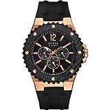 Guess Overdrive W12653G1 - Reloj analógico de cuarzo para hombre, correa de goma color negro
