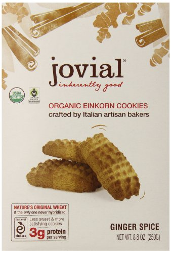 Jovial Ginger Spice Einkorn Organic Cookies,  8.8 Ounce (Pack of 6) ()