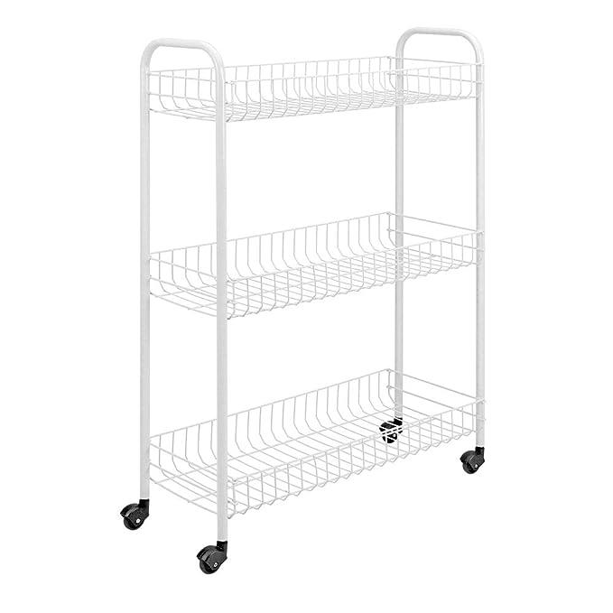 Metaltex Slim - Carro de cocina con 3 niveles, color blanco: Amazon ...