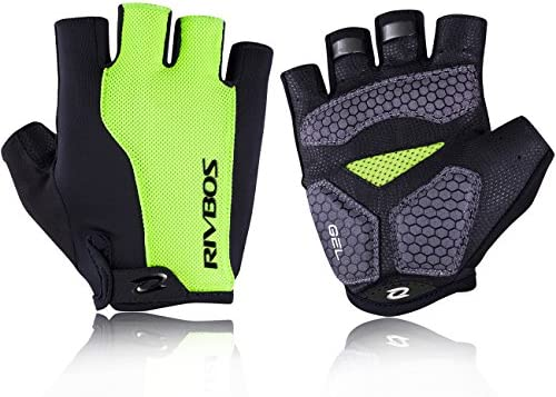 Green Half Finger Gloves for Motorcycle Bicycle Riding Cycling Sports