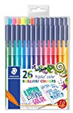 STAEDTLER 323 TB26JB 1.0 mm Triplus Colour Fibre-Tip Pens, Adult Colouring Packaging, Assorted Colours, Pack of 26