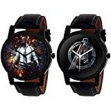 Aaradhya Fashion Pubg & Avengers Dial Black Analog Watch Combo