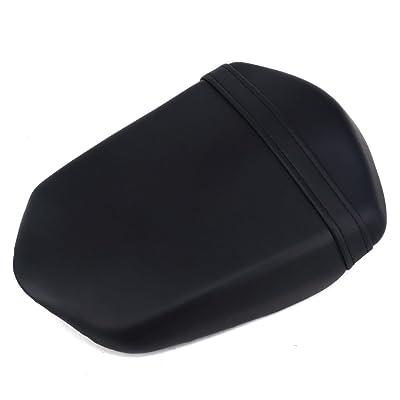 JFG RACING Black Back Motorcycle Seat Soft Comfortable Leather Rear Pad Cusion Seat Passenger Pillion For SUZUKI GSX1300BK B-KING 2008-2012: Automotive