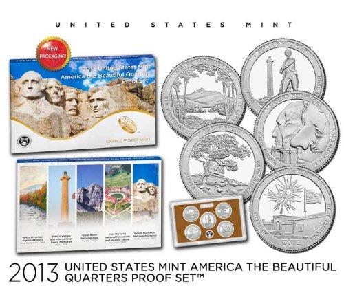 2013 S United States Mint America the Beautiful Quarters Proof Set OGP
