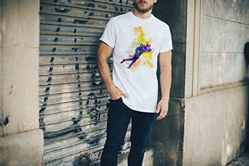 Eisschnelllauf I Herren T-Shirt Sport Motiv aus Paul Sinus Aquarell