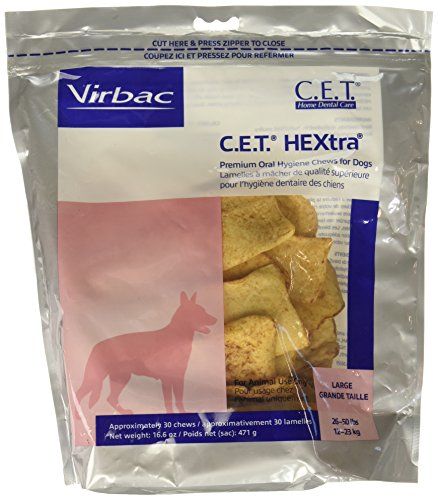 CET HEXtra Premium Chews Large 3 Pack (90 chews) (Premium Chews Hextra)
