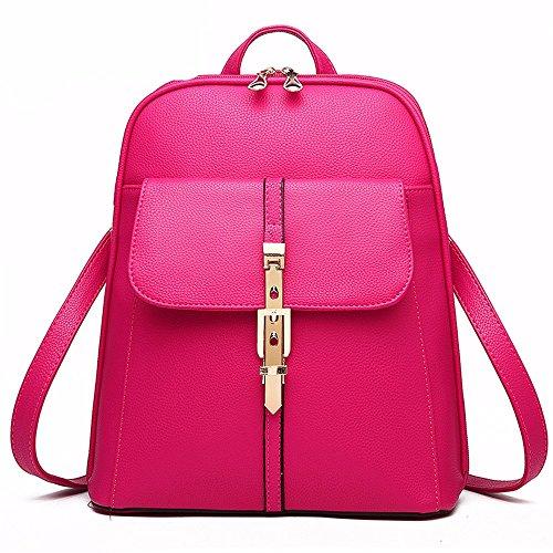 MSZYZ Bolso bolsa de mujer dulce Señora moda bolso trasero,Rosa roja